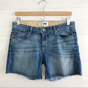 {Paige} Jimmy Jimmy Cut off denim shorts, sz 27
